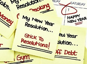 New Years Resolution on Sticky Notes
