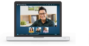 Web conferencing using the online meeting room feature