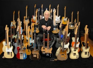 Guitarist John 5 with his collection