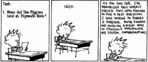 Calvin and hobs Education Comic