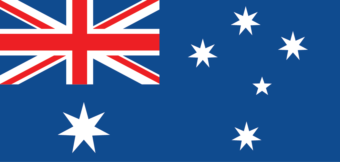 Australia Flag - international Numbers