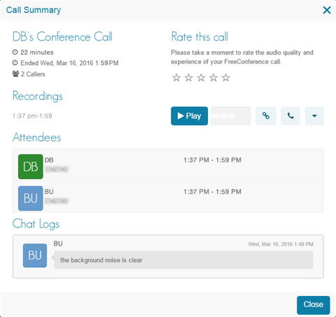 Conference Call Recording - Call Summary