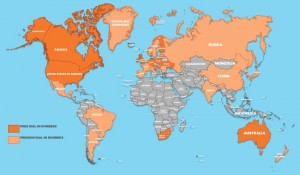 map of free international dial-ins