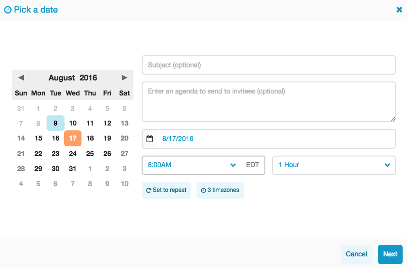 Scheduling Feature