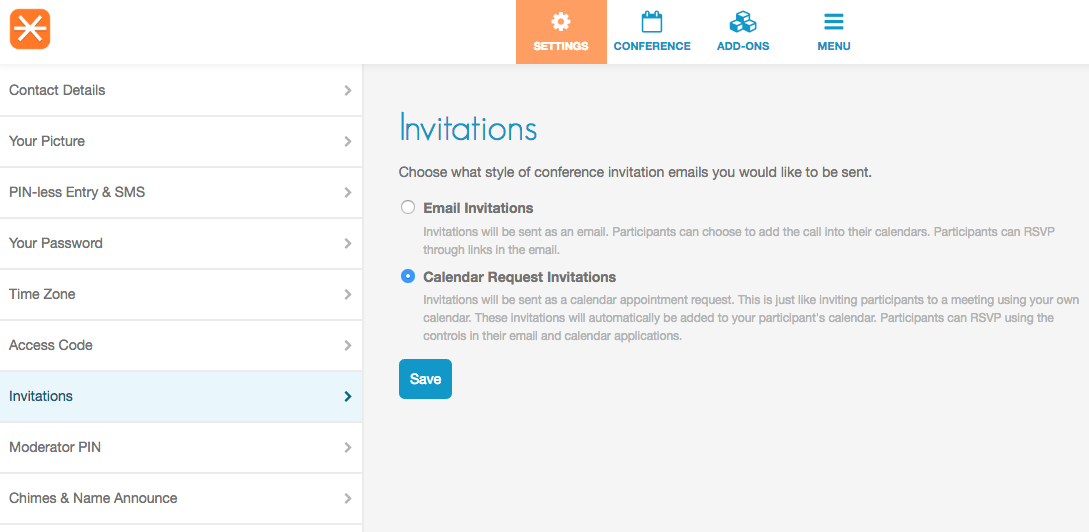 Invitations Feature