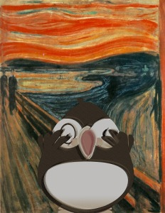 The Scream - with free conference puffin
