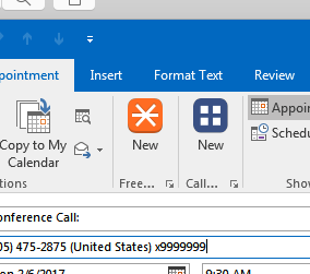 FreeConference manager outlook plugin
