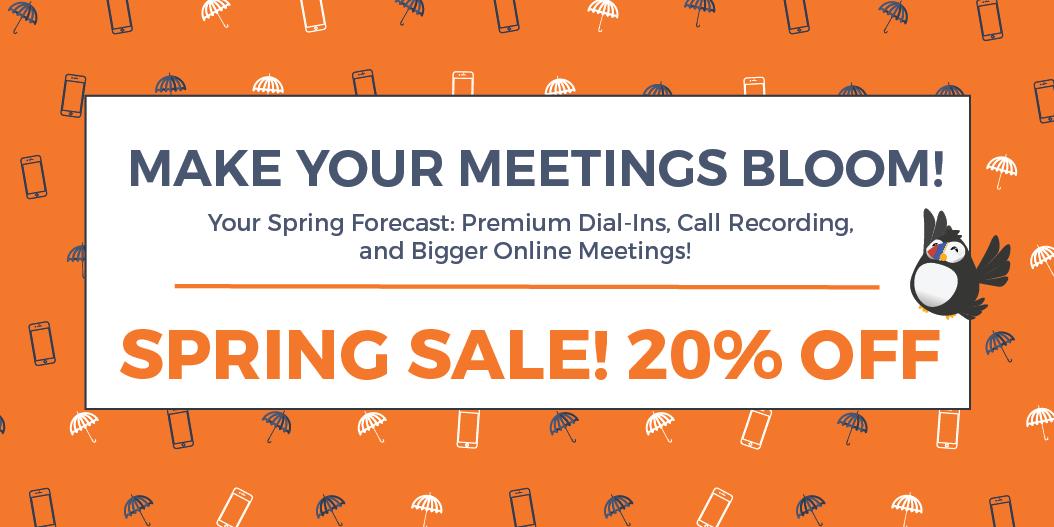 FreeConference.com spring sale promotion 2017 banner