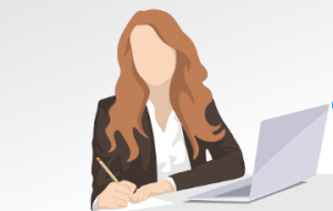 meeting minutes note taker women in conference call