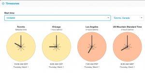 FreeConference Timezones