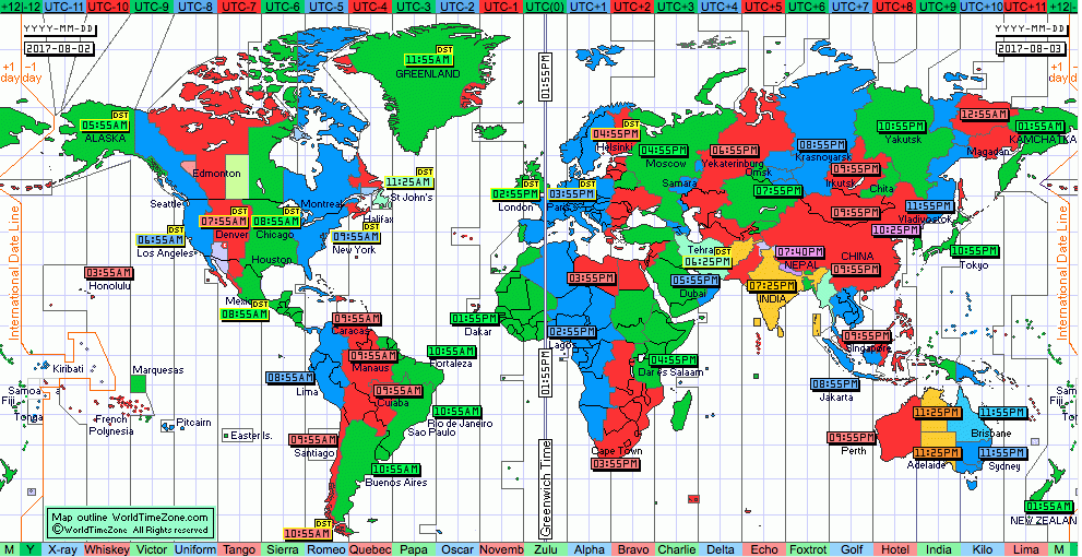 World time zone app