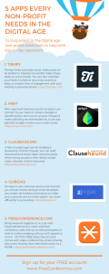 [INFOGRAPHIC] 5 FREE Apps for Non-Profits