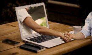 Online meeting handshake