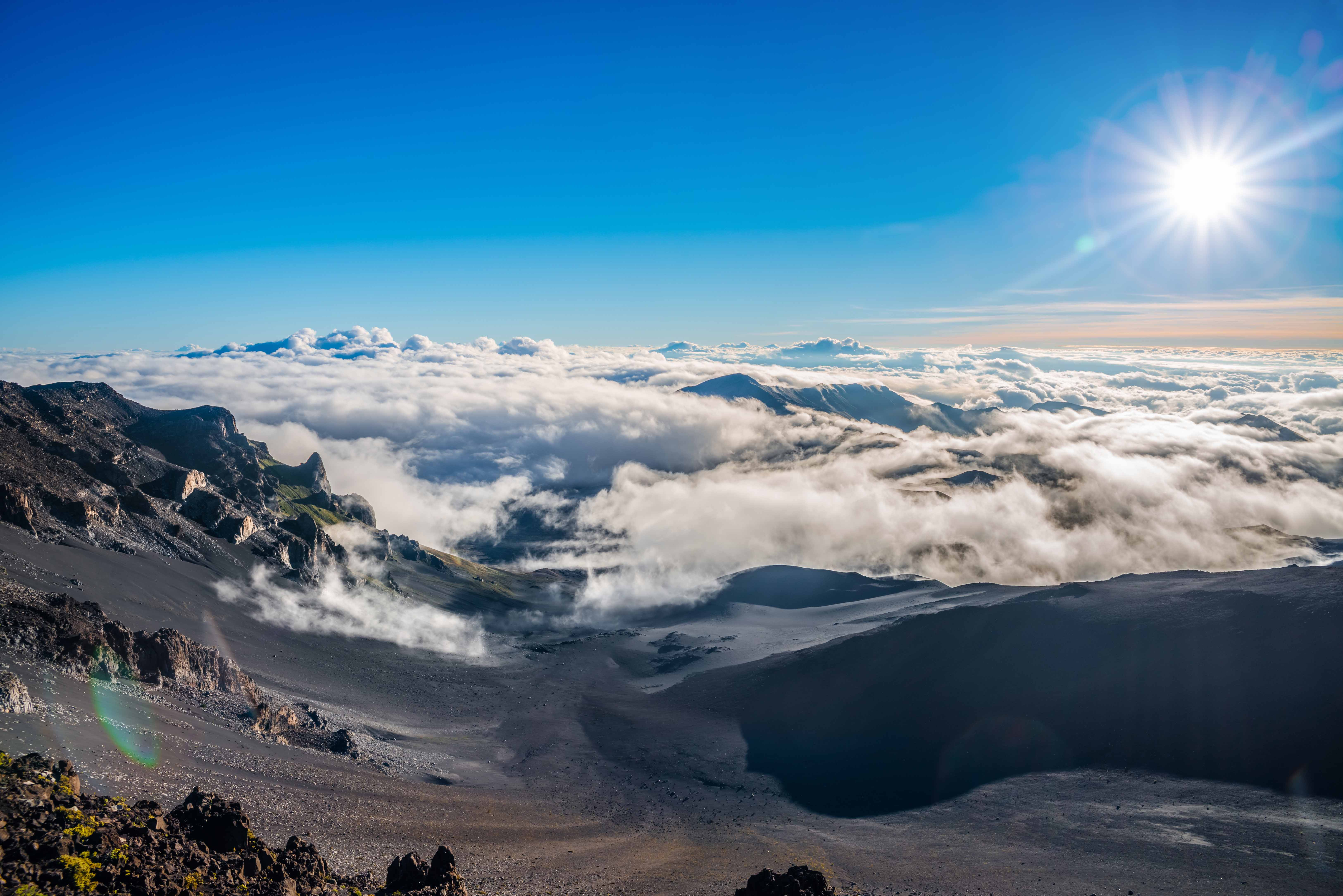 Caldera of the Haleakala volcano, Maui, Hawaii