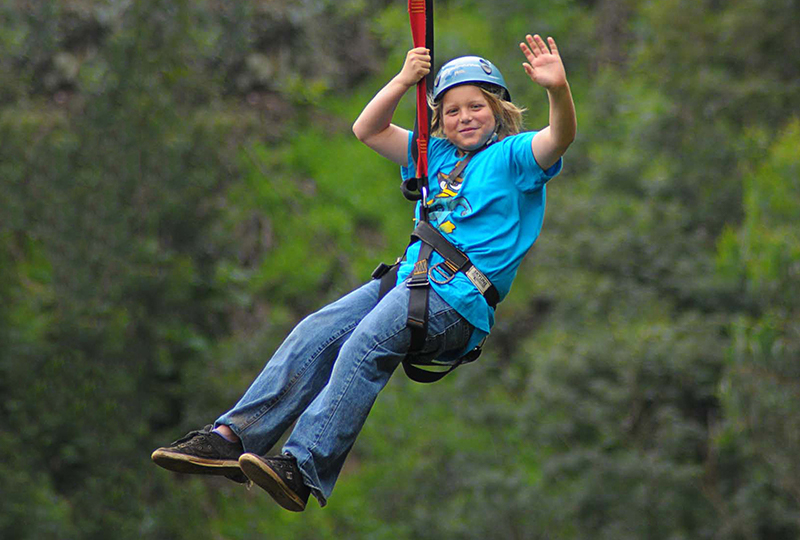 Go ziplining on Maui with your family