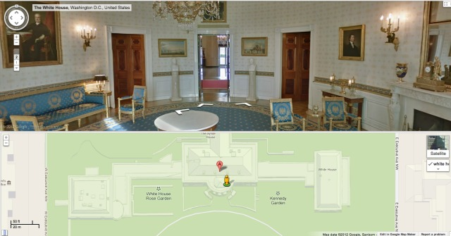 White house floor1 green roomjpg Layout The Obama White House Dcist Google Allows You To Sneak Into White House Without Tipping Off The