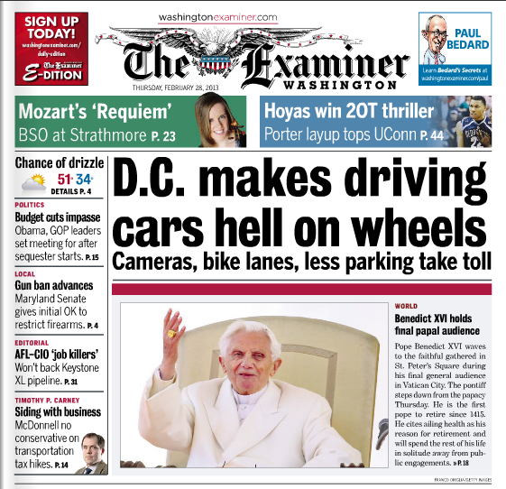Washington Examiner Ends Eight-Year Run of Great Local Reporting and