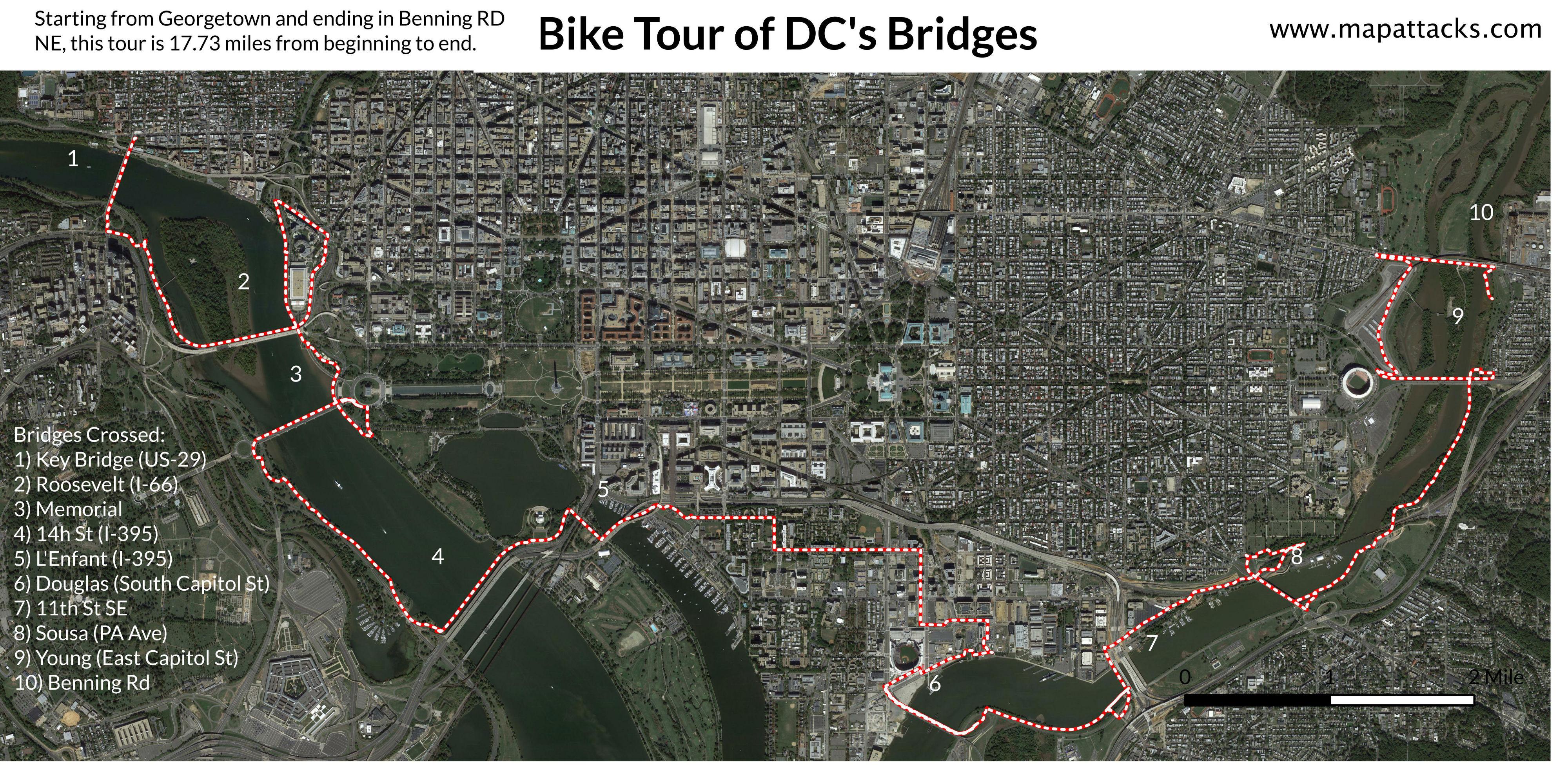 How To Cross Ten D C  Bridges In One Bike Ride | DCist