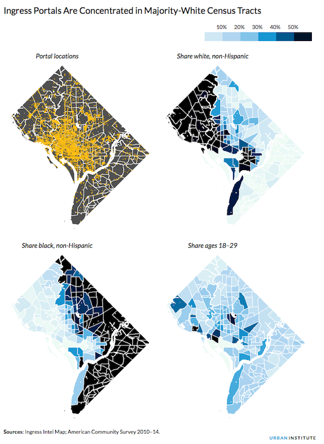 Maps: D C  PokeStops And Gyms Concentrated In Majority-White
