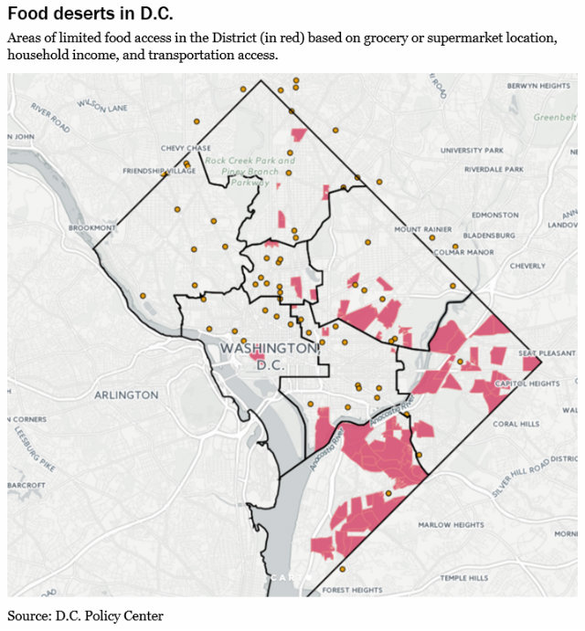 Report: More Than 11 Percent Of D.C. Is A Food Desert | DCist on