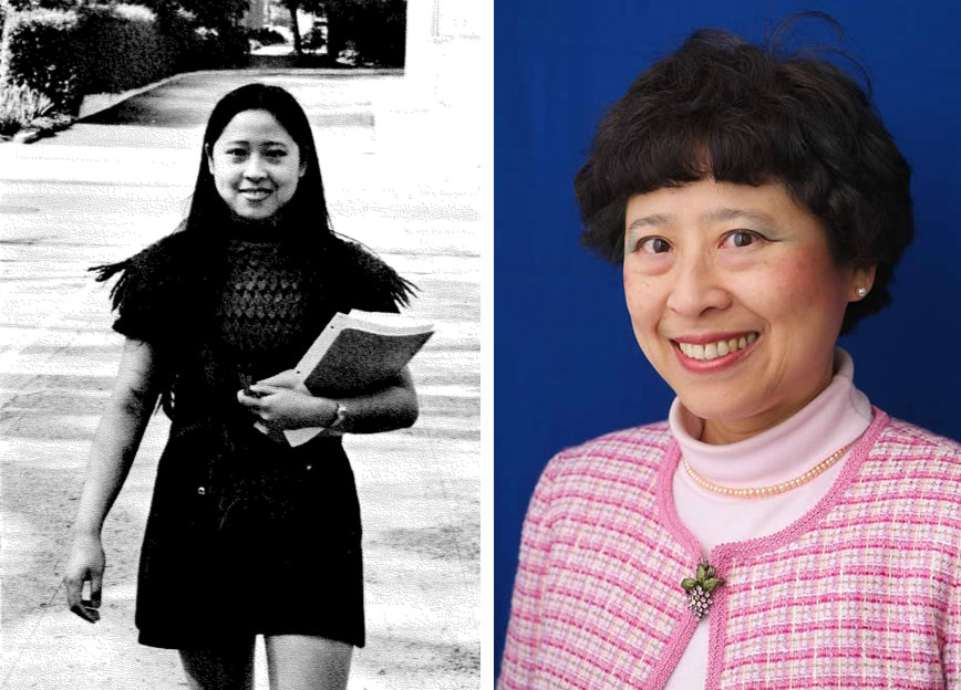 Deborah Chung in 1973, and now