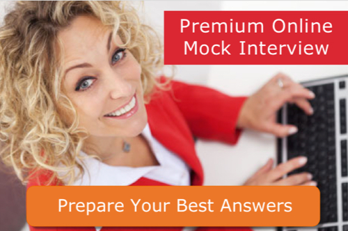 job interview coaching premium online interview prepare best answers blonde typing