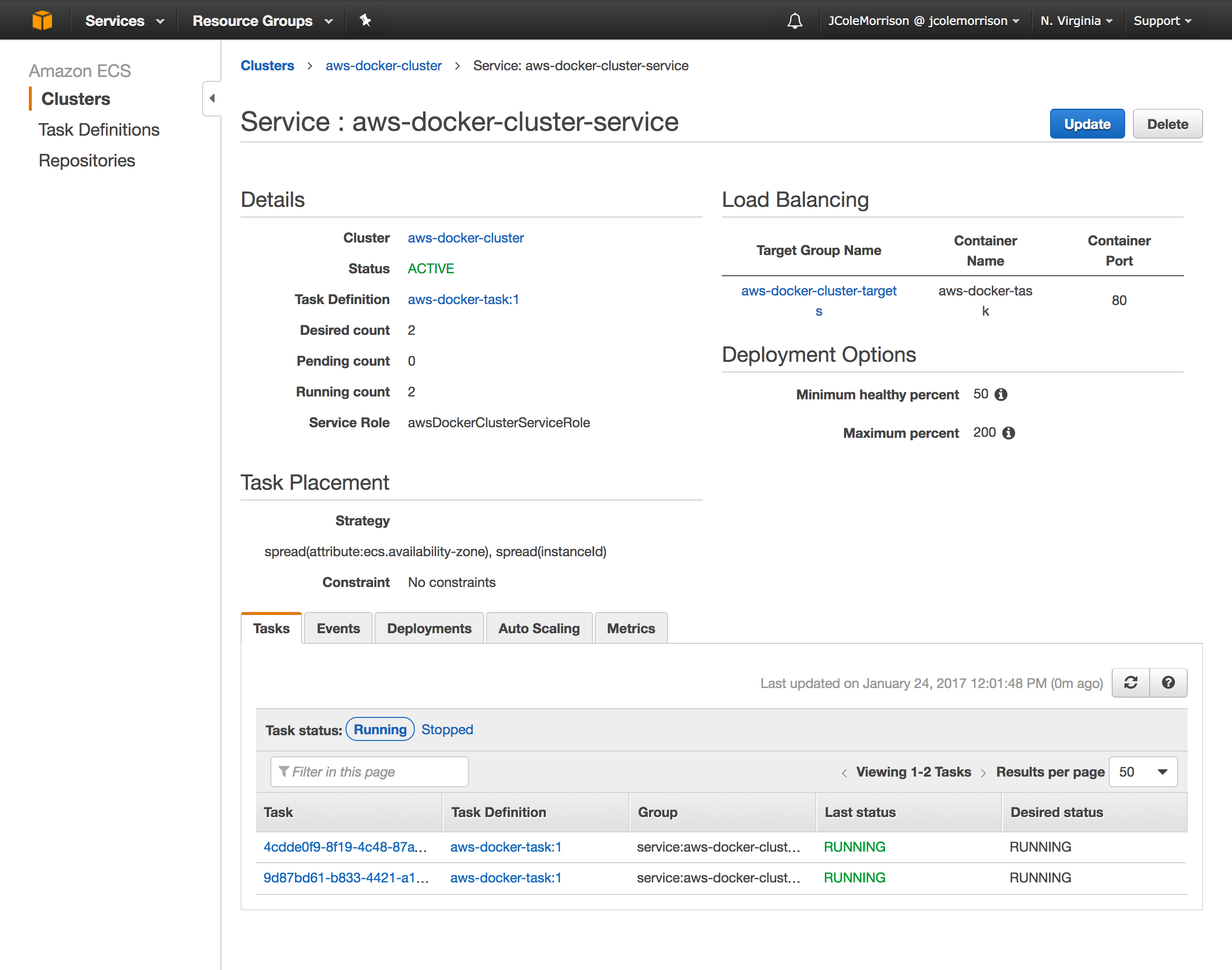 Guide to Fault Tolerant and Load Balanced AWS Docker