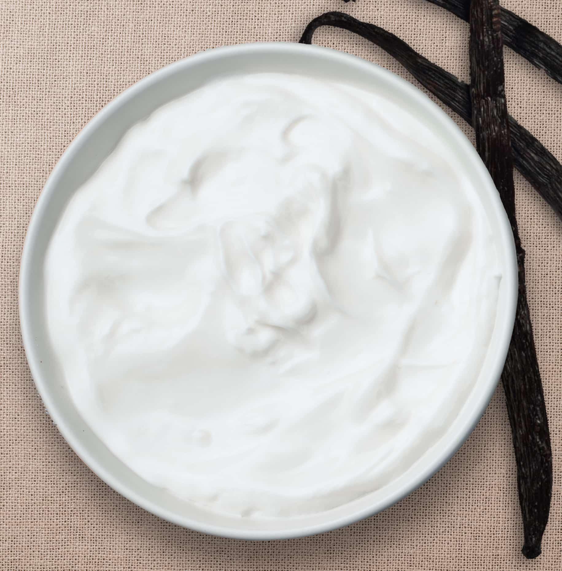 image of vanilla yogurt