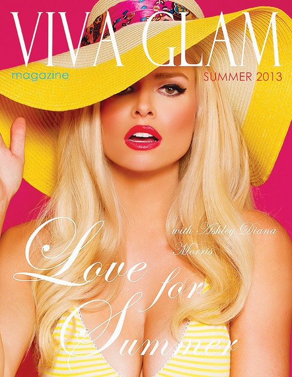 VIVA GLAM MAGAZINE SUPERMODEL ASHLEY DIANA MORRIS LINGERIE COVER