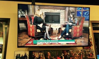 Katarina Van Derham and VIVA GLAM MAGAZINE at Sundance Film Festival!