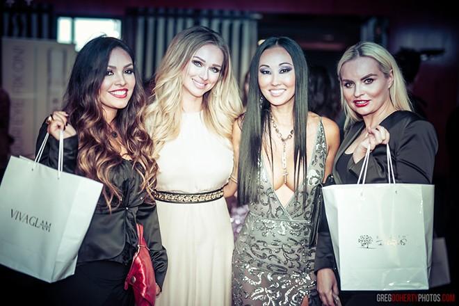 VIVA GLAM TEAM Angelica Curiel, Katarina Van Derham, Candace Kita and Basia Tyrkalska