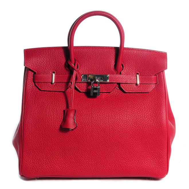 Red HERMES-fashionphile viva glam magazine luxury bag resale