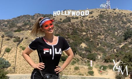 katarina van derham at hollywood sign