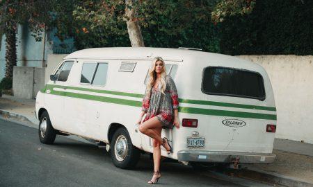Russian blonde model