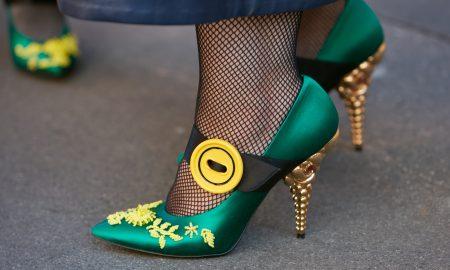 prada, luxury, heels, green shoes, satin shoes, heels