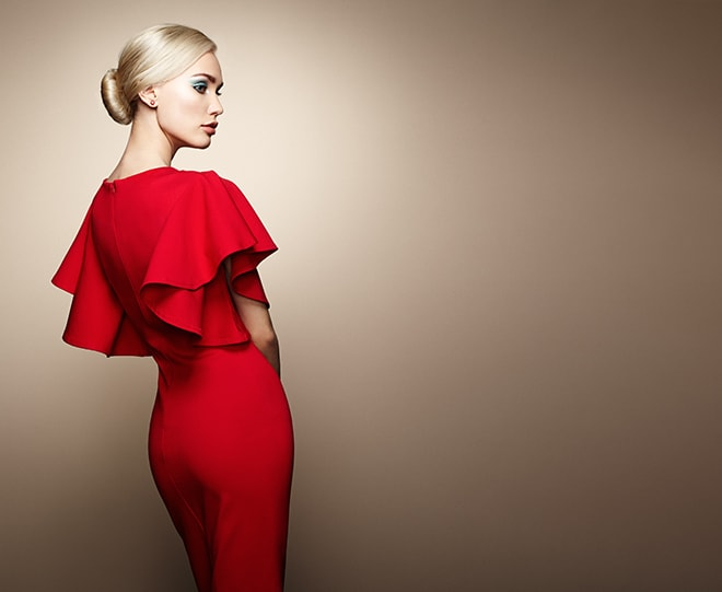 the-best-colors-to-wear-to-match-your-blonde-hair-red-dress
