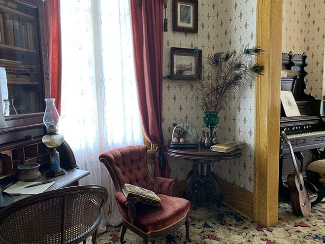 Historic Whaley House Interview Americas Most Haunted House  Dean Glass Malorie Mackey Parlor Living Room Violet Whaley