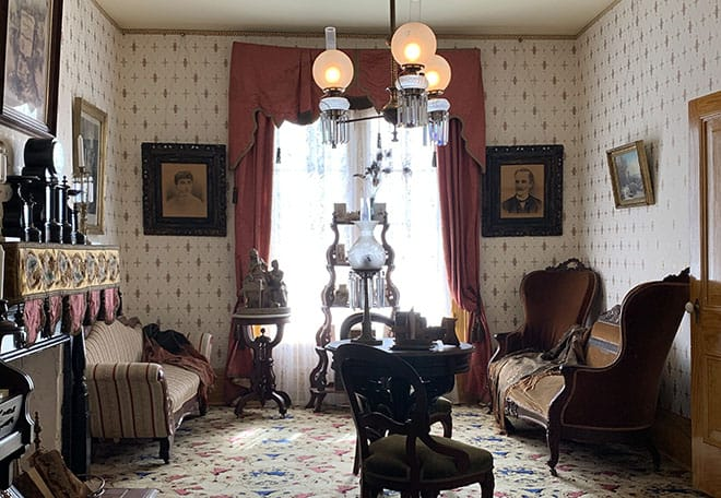historic-whaley-house-interview-americas-most-haunted-house-dean-glass-malorie-mackey-parlor-living-room