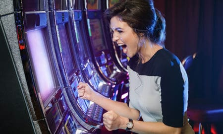 Online-Casino-Games-Most-Loved-by-Women-girl-winning-at-slots