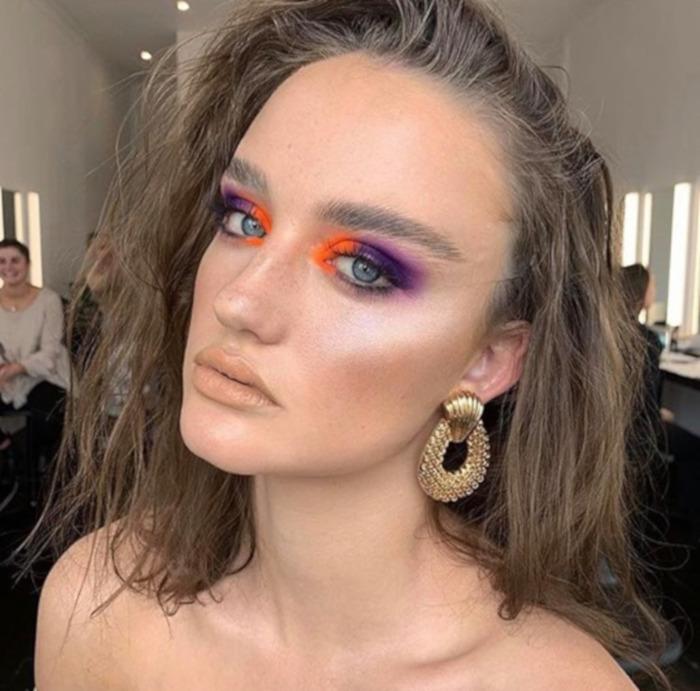 Color Blocking Summer Makeup