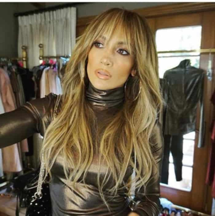 Everyone in Hollywood is Getting Curtain Bangs For Fall 2019 Jennifer Lopez