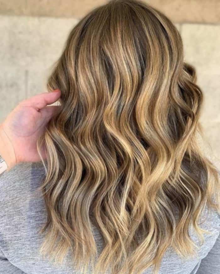 tweed balayage hair color