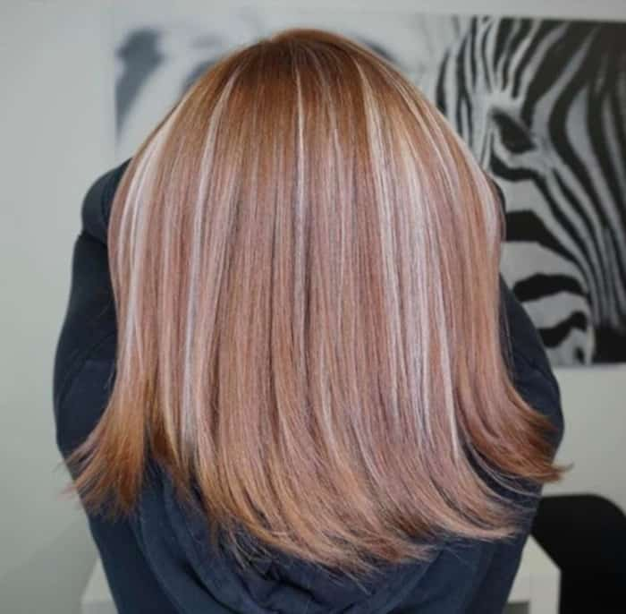 chunky highlights hair trend