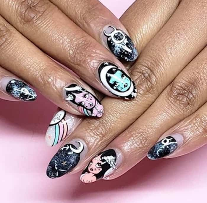 zodiac signs inspired nails