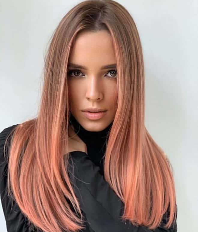 living coral hair color ideas for summer