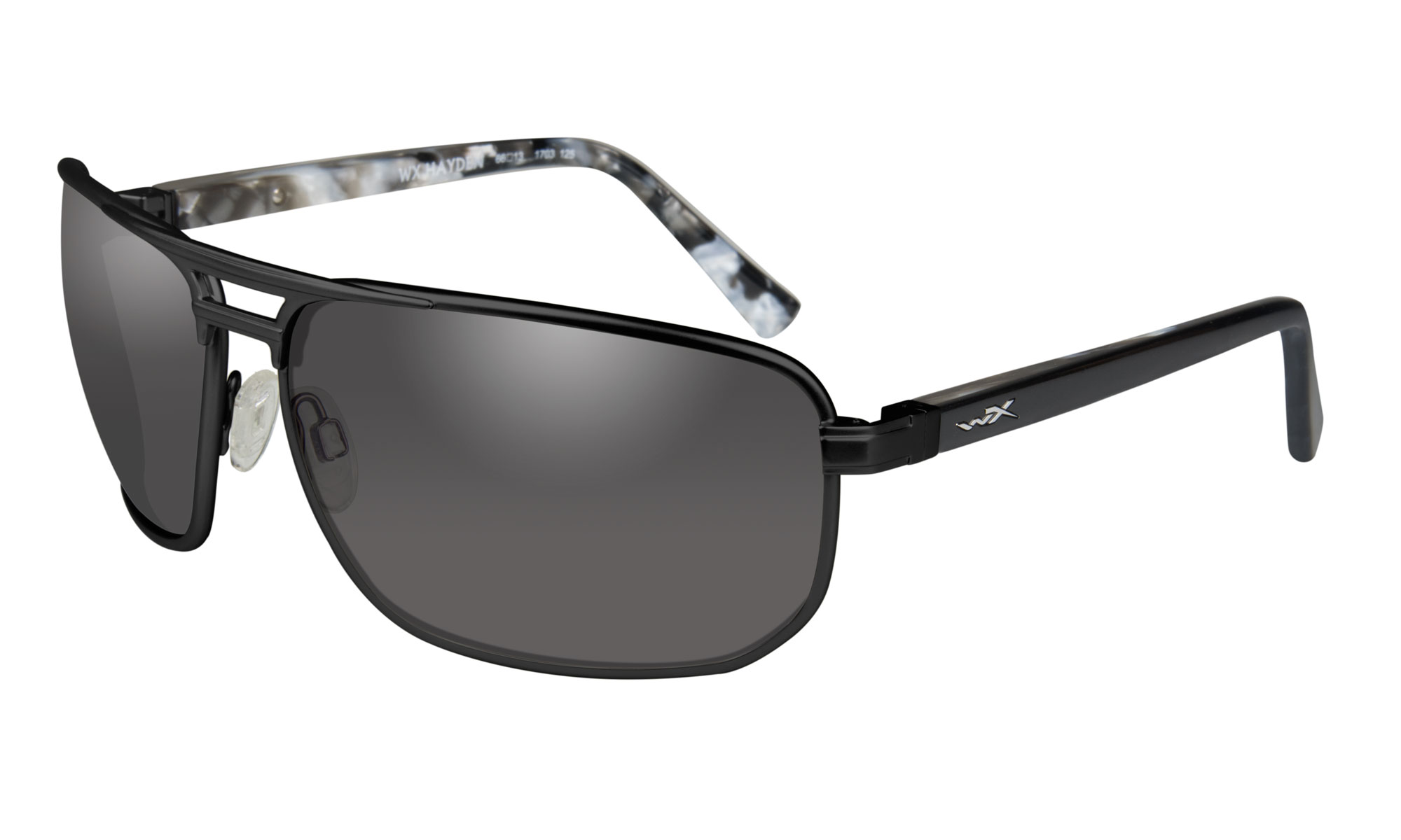 8beb200f7f97 Wiley-X WX Hayden Matte Black with Smoke Grey Lenses | Wiley X
