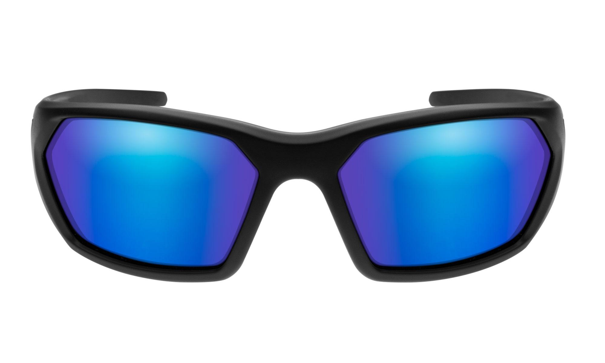 ab082800b5bc6 Wiley-X WX Ignite Matte Black with Polarized Blue Mirror Lenses ...