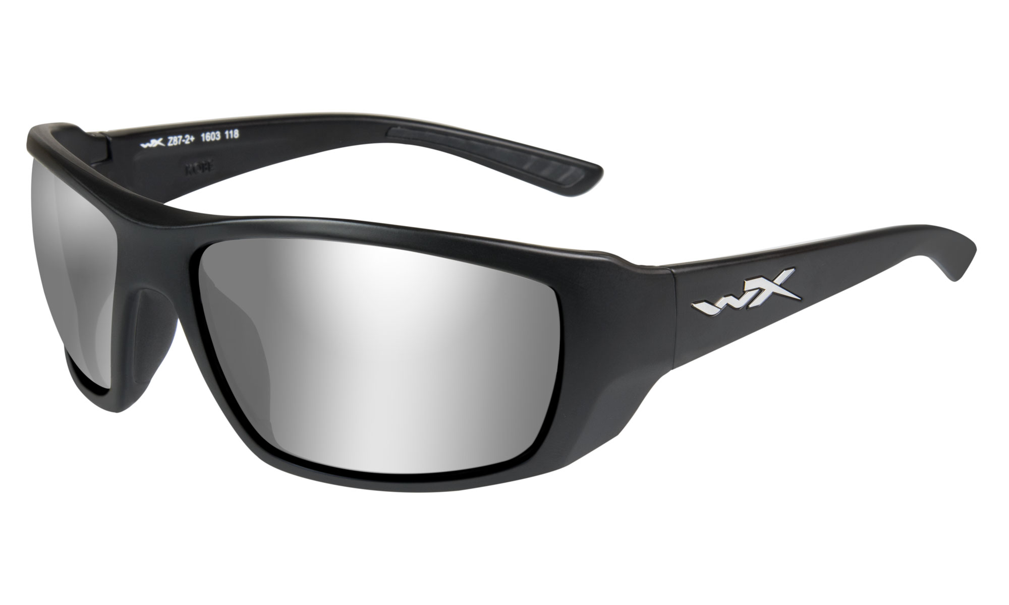 684c9cc71c064 Wiley-X WX Kobe Matte Black with Grey Silver Flash Lenses