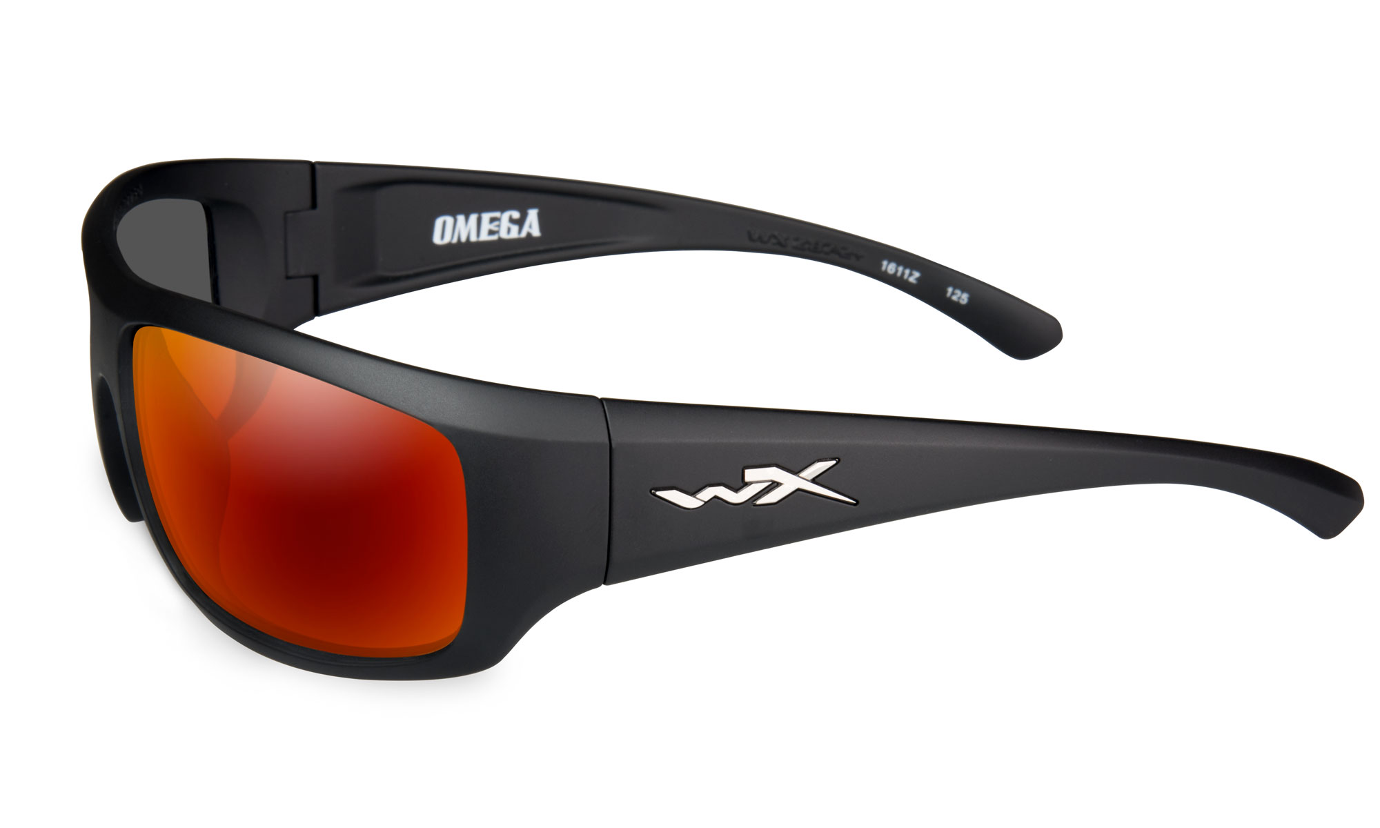 69be07706b861 Wiley-X WX Omega Matte Black with Polarized Crimson Mirror Lenses ...