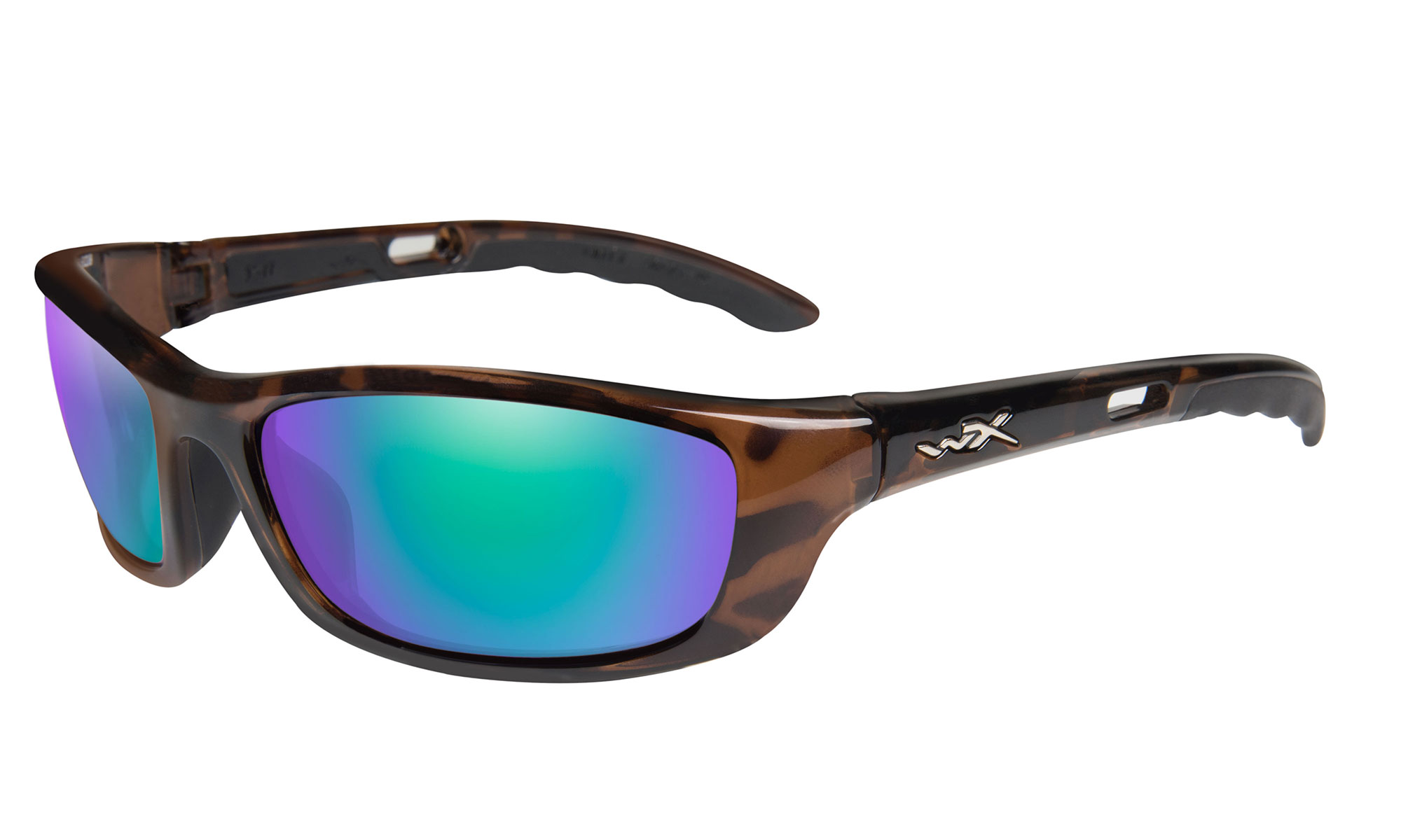a5a84de4d773 Wiley-X P-17 Gloss Demi with Polarized Emerald Mirror Lenses | Wiley X